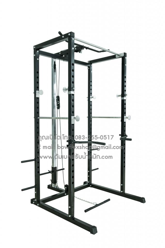 power rack with lat machine