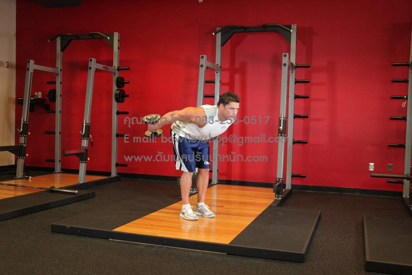 ฝึกสร้างกล้ามเนื้อหลังแขน