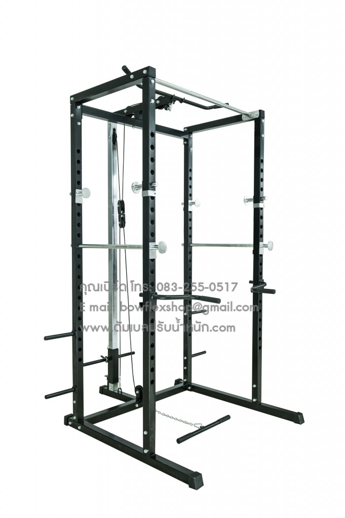 power rack with lat machine